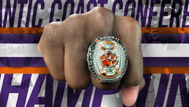 logo tigers ring stainless full band copy style steel rings clemson