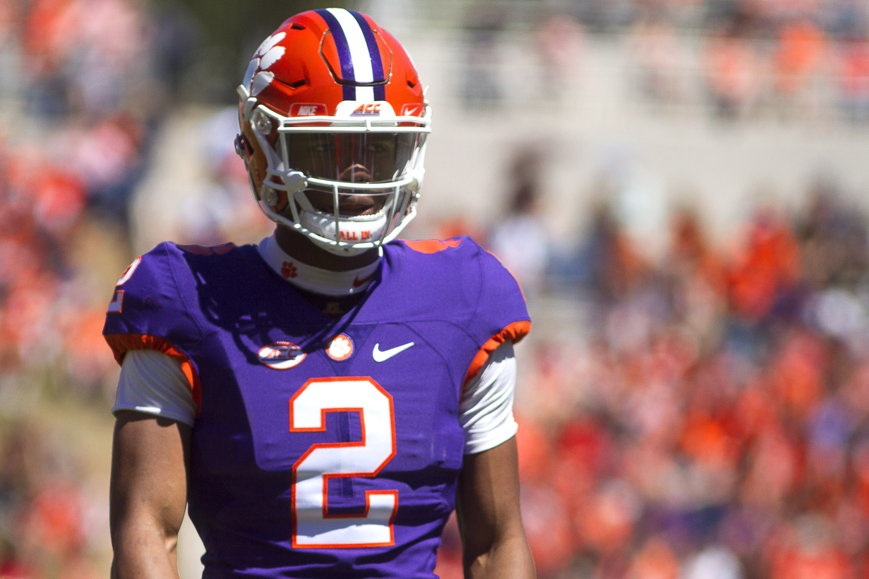 Clemson quarterback Kelly Bryant the returning starter was first on the depth chart released by the Tigers on Wednesday and freshman Trevor Lawrence was