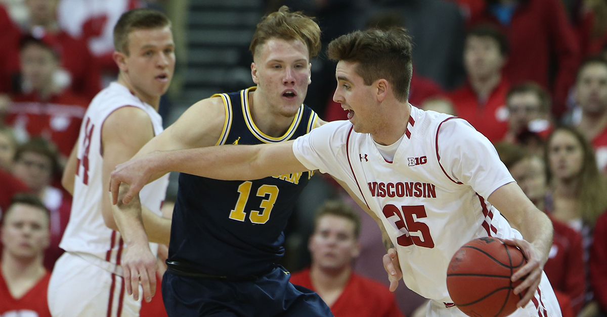 Wisconsin Upsets Previously Undefeated Michigan Behind Near Triple-Double by Ethan Happ