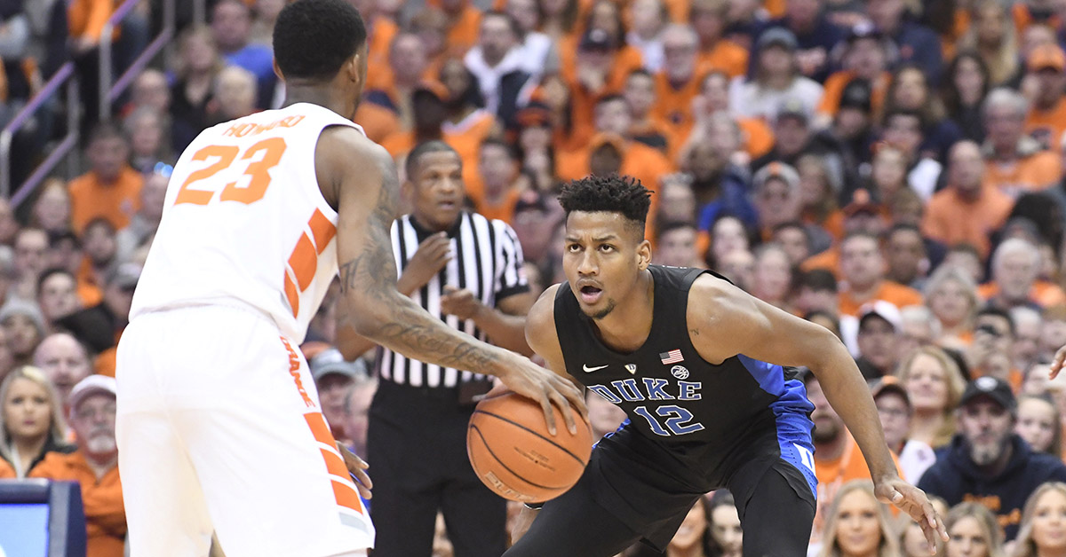 Duke Avenges Loss To Syracuse With Road Win Over Orange Without Zion