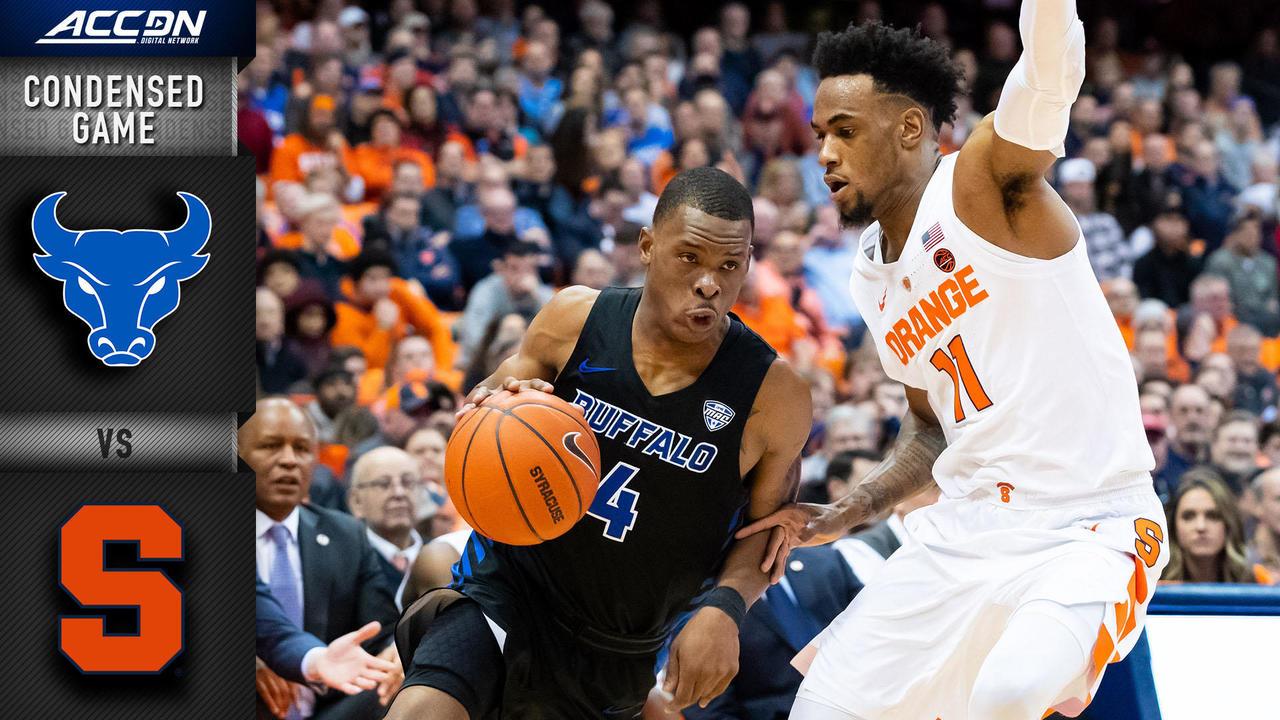 Buffalo Vs Syracuse Condensed Game 2018 19 Acc Basketball