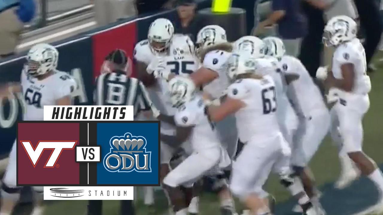 No  13 Virginia Tech vs Old Dominion Football Highlights