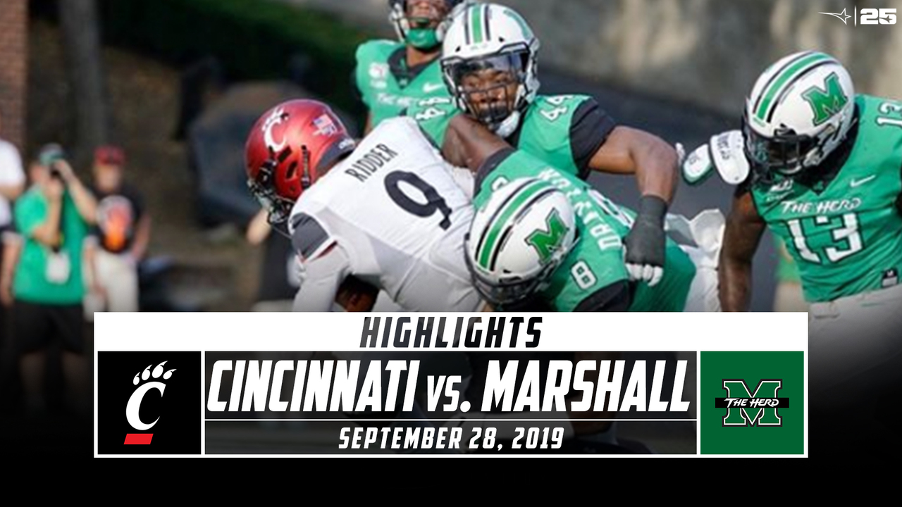 Cincinnati Vs Marshall Football Highlights 2019 Stadium