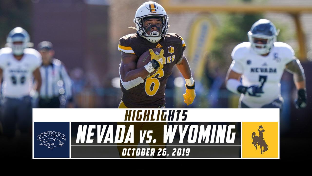 Nevada Vs Wyoming Football Highlights 2019 Stadium