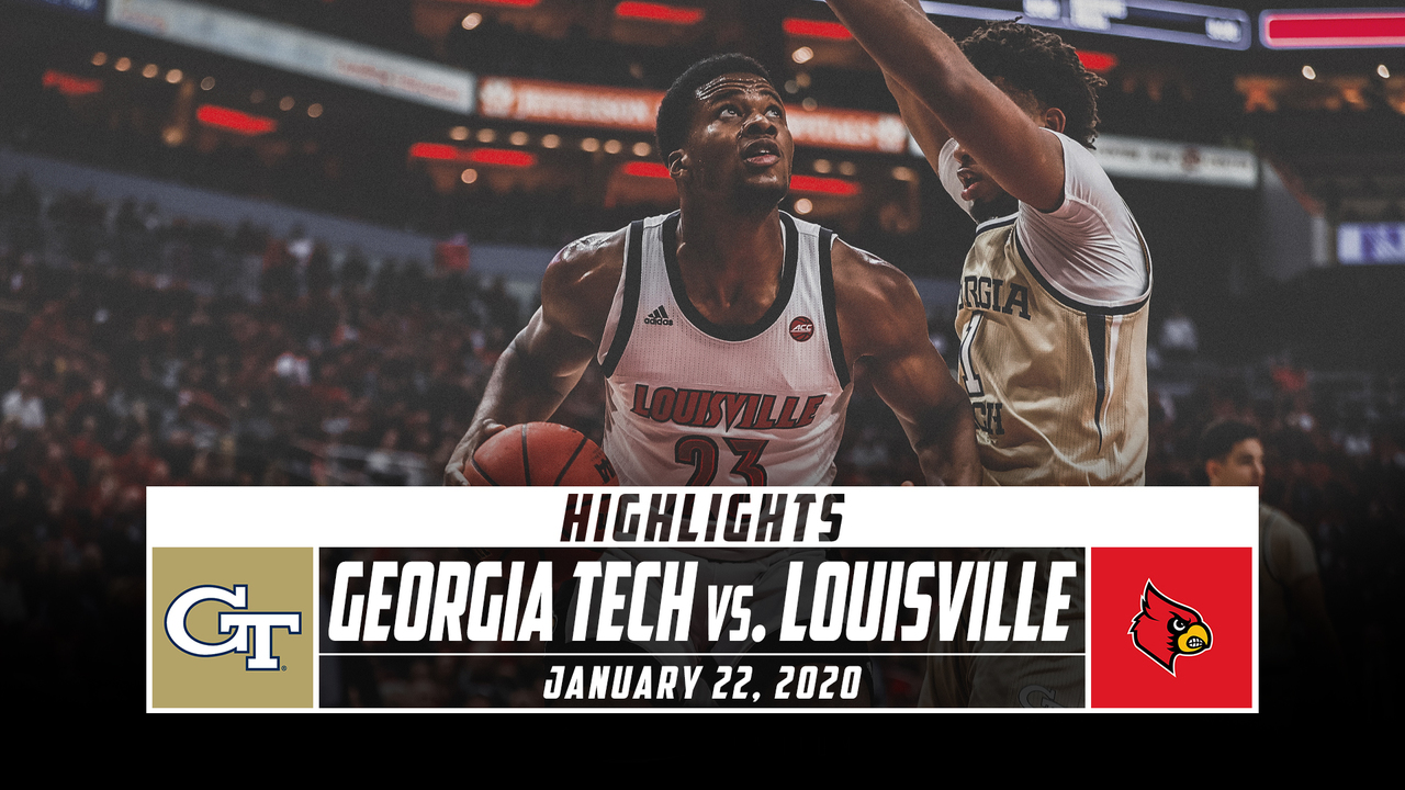 Georgia Tech Vs No 6 Louisville Basketball Highlights 2019 20 Stadium