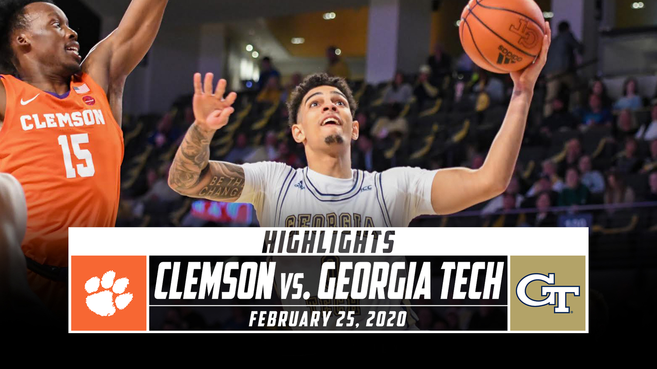 Clemson Vs Georgia Tech Basketball Highlights 2019 20 Stadium