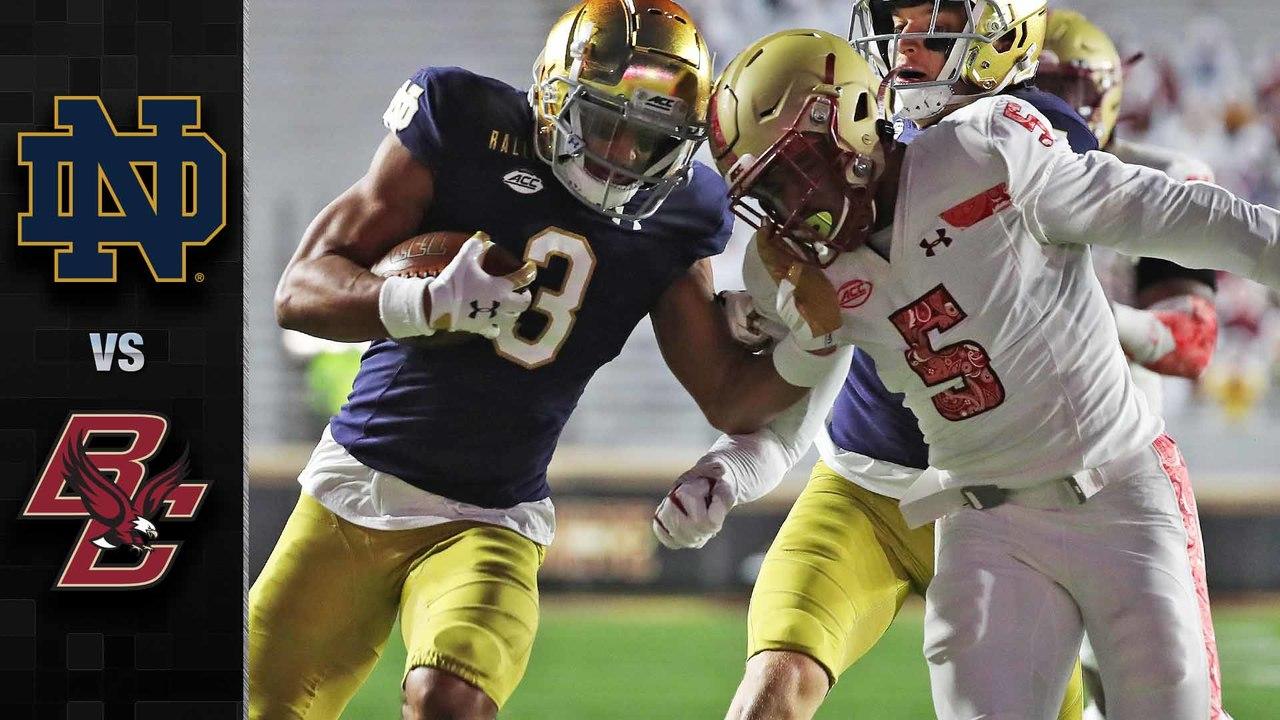 Notre Dame Vs Boston College Football Highlights 2020 Stadium